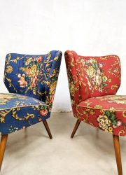vintage cocktail chairs Bohemian flower print club chair expo