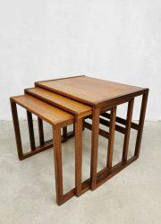vintage Gplan teak mimiset nesting tables