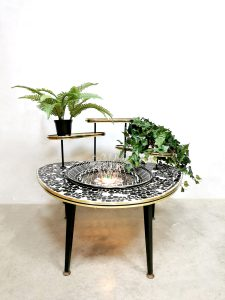 Midcentury design plant stand planten standaard fontein 'fountain of youth'