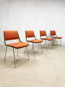 Vintage Dutch design dining chairs eetkamerstoelen Gispen Cordemeijer 'Model 2210'