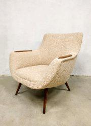 midcentury design modern armchair vintage lounge fauteuil jaren 50 60