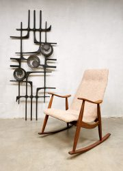 Dutch design vintage rocking chair schommelstoel Webe Louis van Teeffelen