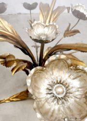 vintage design eclectic gold gilded coffee table side table Poppy salontafel bijzettafel klaproos