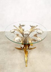 idcentury modern vintage coffee table palm brass