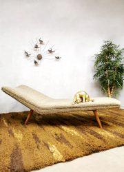 Retro seventies carpet vintage handwoven handgeweven tapijt carpet vloerkleed jaren 70