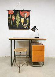 Vintage writing desk industrial vintage fifties jaren 50 bureau industrieel