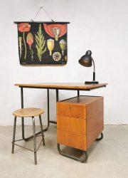 Vintage industrial writing desk industrieel bureau fifties