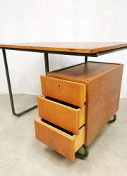 retro vintage industrieel bureau buro industrial desk