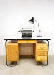 vintage industrial desk industrieel bureau