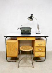 Industrial sixties writing desk vintage industrieel bureau