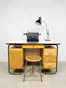 Industrial sixties writing desk vintage industrieel bureau