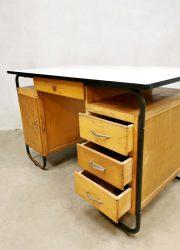 industrieel vintage bureau writing desk