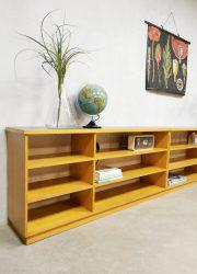 vintage industrial room divider cabinet school kast dressoir sixties industrieel