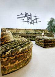 Vintage modular sofa modulaire elementen lounge bank ' Urban Jungle' retro