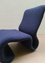 Space Age lounge chair fauteuil Olivier Mourgue vintage sculptural