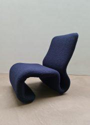 Vintage sculptural Space Age lounge chair fauteuil Olivier Mourgue