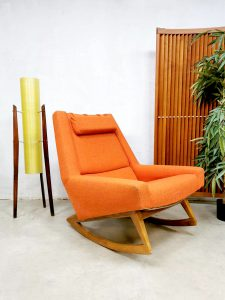 Midcentury Danish design rocking chair Deense schommelstoel