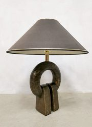 Brutalist vintage Dutch design table lamp tafellamp Geert Kunen