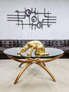 Midcentury Swedish design 'spider leg' coffee table salontafel