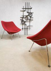 midcentury design artifort design chair Oyster Pierre paulin