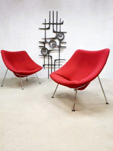 Dutch design 'Oyster' easy chair lounge fauteuil Artifort Pierre Paulin F157