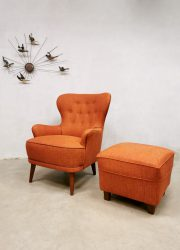 Vintage armchair wingback chair lounge fauteuil Artifort Theo Ruth