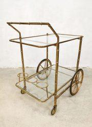 vintage trolley liquor brass cabinet serveerwagen 3