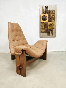 Vintage easy chair Brazilian brutalist eclectic lounge chair bohemian