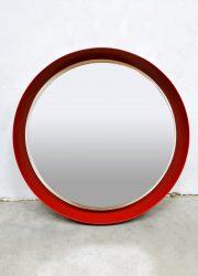 Vintage design illuminated mirror verlichte spiegel 'Perfect red'