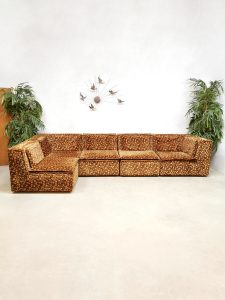 Vintage modular sofa modulaire elementen bank 'Flower Power'