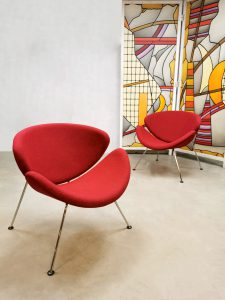 Artifort Oranje Slice easy lounge chairs Pierre Paulin F437
