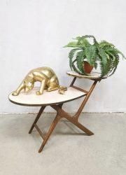 Vintage side table plant stand display bijzettafel plantentafel 'sixties'