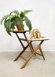 Retro side table plant stand display bijzettafel plantentafel 'sixties'