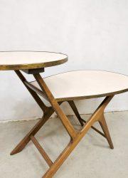 vintage retro bijzettafeltje plantentafeltje jaren 60 sixties plant stand table