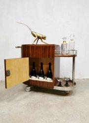 Midcentury bar trolley liquor cabinet vintage serveerwagen