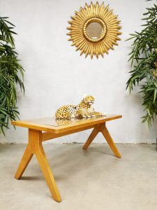 Midcentury design coffee table vintage salontafel 'Webbing' Pierre Jeanneret style