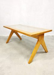 midcentury Dutch design salontafel webbing coffee table
