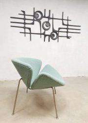 Dutch design artifort fauteuil orange slice F437