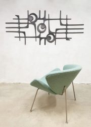 Artifort Orange Slice easy lounge chairs Pierre Paulin F437 ice blue