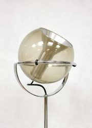 vintage retro glazen vloerlamp bollamp Globe floorlamp Raak Amsterdam