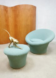 Artifort vintage design chair mushroom & stool F560 Pierre Paulin