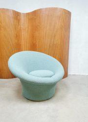 Pierre Paulin Artifort vintage design fauteuil mushroom & stool F560
