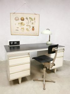 Vintage Dutch design industrial desk bureau industrieel Drentea Emmen
