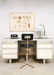 Vintage Dutch design industrial desk bureau industrieel Drentea Emmen