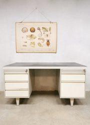 vintage industrieel bureau office desk industrial Drenthea Gispen stijl