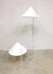 seventies perspex floor lamp Dutch design Harco Loor