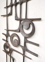 Brutalist wall sculpture wanddecoratie vintage design