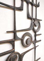 Vintage brutalist wall art sculpture wanddecoratie