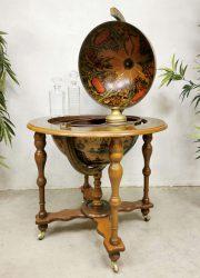 Italiaanse drankentrolley vintage liquor cabinet globe bar wereldbol