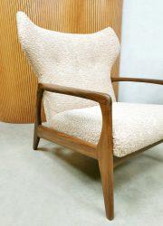 Vintage lounge fauteuil Deens design Danish fauteuil arm chair